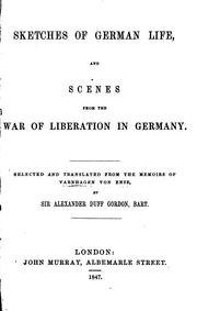 Sketches of German Life, and Scenes from the War of Liberation in Germany PDF