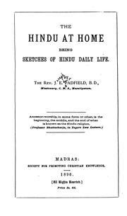 The Hindu at Home: Being Sketches of Hindu Daily Life PDF