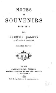 Notes et souvenirs, 1871-1872 by Ludovic Halévy