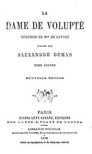 La dame de volupté, mémoires de Mile de Luynes by E. L. James