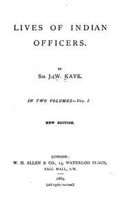 Lives of Indian Officers PDF