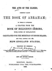 The Acts of the Elders: Commonly Called the Book of Abraham : to which is Appended a Chapter .. PDF