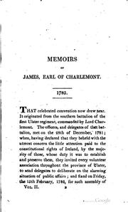 Memoirs of the political and private life of James Caulfield, Earl of Charlemont PDF