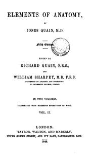 Elements of anatomy by Jones Quain