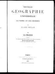 Nouvelle gographie universelle by lise Reclus