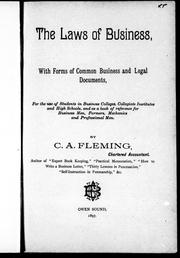 The laws of business by C. A. Fleming