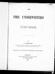 The fire underwriters' text-book by J. Griswold
