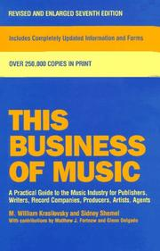 This business of music by M. William Krasilovsky