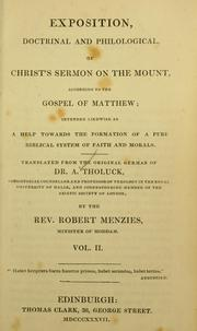 Exposition, doctrinal and philological of Christ's Sermon on the Mount, according to the Gospel of Matthew PDF