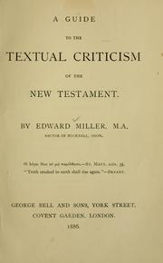 A guide to the textual criticism of the New Testament.
