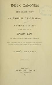 Index canonum PDF