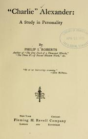 "Cover of: ""Charlie"" Alexander by Philip I. Roberts"