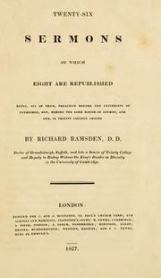 Twenty-six sermons by Richard Ramsden
