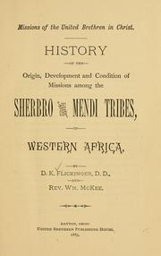 History of the origin, development and condition of missions among the Sherbro and Mendi tribes in Western Africa PDF