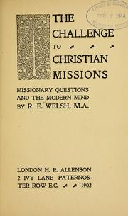 challenge to Christian missions