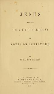 Jesus and the coming glory PDF