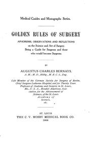 Golden rules of surgery