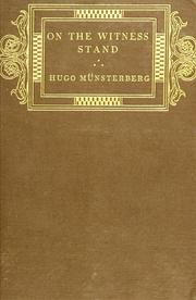 On the witness stand by Hugo Münsterberg