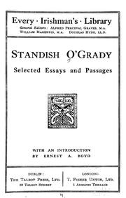 Standish O&#39;Grady by O&#39;Grady, Standish