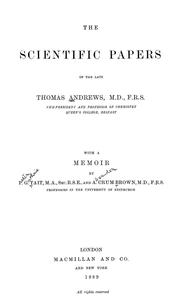 The scientific papers of the late Thomas Andrews .. PDF