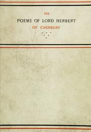 Poems by Herbert of Cherbury, Edward Herbert Baron