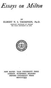 Essays on Milton PDF