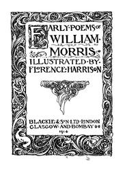 Cover of: Early poems of William Morris by William Morris