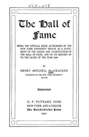 The Hall of Fame by Henry Mitchell MacCracken