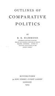 Outlines of comparative politics PDF