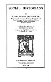 Cover of: Social historians by Harry Aubrey Toulmin