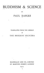 Buddhism & science by Paul Dahlke