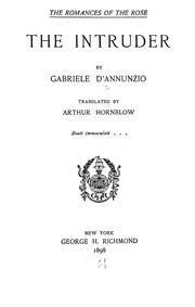 Cover of: The intruder by Gabriele D&#39;Annunzio