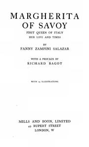 Margherita of Savoy, first queen of Italy by Fanny Zampini-Salazar