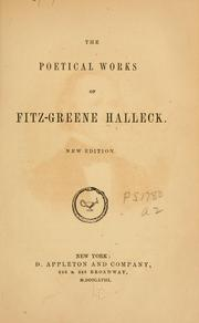 The poetical works of Fitz-Greene Halleck by Fitz-Greene Halleck