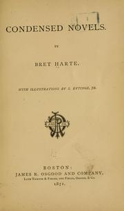 Condensed novels by Bret Harte