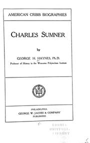 Cover of: Charles Sumner by Haynes, George Henry