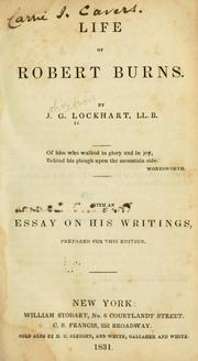 Life of Robert Burns by J. G. Lockhart