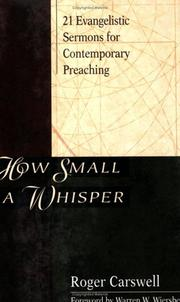 How Small a Whisper by Roger Carswell