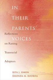 In their parents&#39; voices by Simon, Rita James.