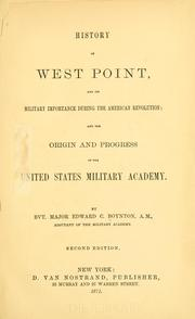 History of West Point by Edward C. Boynton