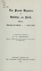 The parish registers of Halifax, Co. York by Halifax (England)