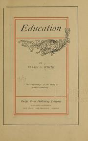 Education by Ellen Gould Harmon White