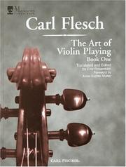 The art of violin playing by Carl Flesch