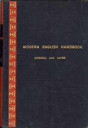 Modern English handbook by Robert M. Gorrell