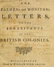 Cover of: The Farmer's and Monitor's letters to the inhabitants of the ...