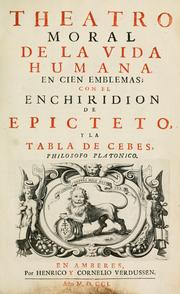 Cover of: Theatro moral de la vida humana by Otto van Veen