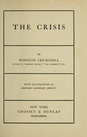 Cover of: The crisis by Winston Churchill