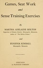 Games, seat work and sense training exercises PDF