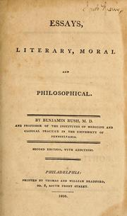 Essays, literary, moral & philosophical by Rush, Benjamin