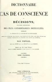 Dictionnaire de cas de conscience by Jean Pontas